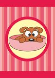 Animal doméstico de la historieta en la taza - perro del bebé Fotografía de archivo