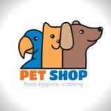 Animal doméstico de la tienda del logotipo Fotos de archivo libres de regalías
