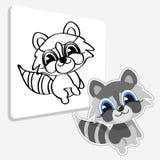 Animal doméstico divertido de la historieta del mapache Imagen de archivo libre de regalías
