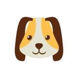 animal doméstico marrón largo del oído de la cara del perrito Foto de archivo