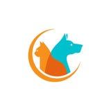 Animal doméstico y veterinario Logo, grupo animal del amante stock de ilustración
