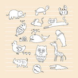 Animal doodle Royalty Free Stock Images