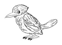 Animal doodle for little bird Stock Images