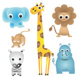 Animal doodles Stock Image