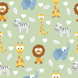Animal Doodles Seamless Background Royalty Free Stock Photo