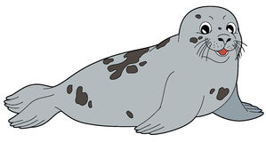 Animal dos desenhos animados - selo - estilo liso da coloração Foto de Stock Royalty Free