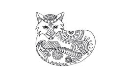 Animal draw for antistress Royalty Free Stock Photo