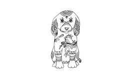 Animal draw for antistress Royalty Free Stock Images