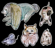 Animal drawing Royalty Free Stock Photography