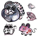 Animal drawing Stock Images