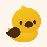 Animal duck flat icon elements, eps10 Royalty Free Stock Photo