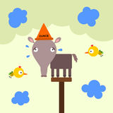 Animal dunce Royalty Free Stock Photos