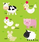 Animal e inglês Imagem de Stock