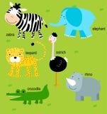 Animal e inglês Imagens de Stock