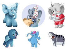 Animal elephants mammoth clipart cartoon style  Royalty Free Stock Image