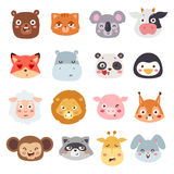 Animal emotions vector illustration. Royalty Free Stock Image
