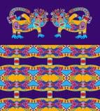 Animal ethnique folklorique - monkey avec la géométrie sans couture Photo libre de droits
