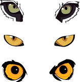 Animal Eyes. Three pairs of eyes Animals Guess what I have stock illustration