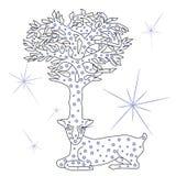 Animal fabuloso Cervos estrelados ilustração stock