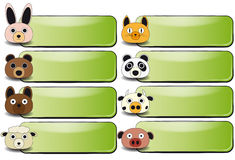 Animal face banner Royalty Free Stock Photos