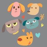 Animal face cartoon emotion stock illustration