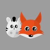 Animal face design. cartoon icon. vector illustration Stock Images