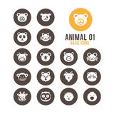 Animal face icon. Vector illustration. Royalty Free Stock Photography