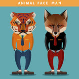 Animal Face Man royalty free stock images
