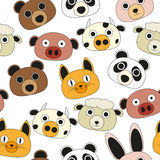 Animal face seamless pattern Royalty Free Stock Images