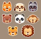 Animal face set vector illustration