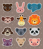 Animal face stickers royalty free illustration