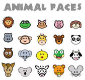 Animal Faces Royalty Free Stock Images