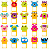 Animal faces text frames clip art set Stock Image