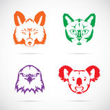 Animal Faces Vector Symbol Set Royalty Free Stock Photography