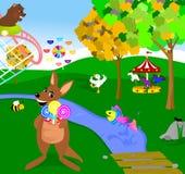 Animal Fair. Illustration of animals having fun at a fair stock illustration