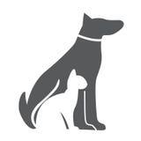 Animal familier, chien et Cat Icon Matériel pour la conception Illustration de vecteur Illustration Stock