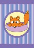 Animal familier de dessin animé dans la cuvette - renard de chéri Photos libres de droits