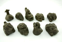 Animal familier de thé de sculpture en Redware Photos stock