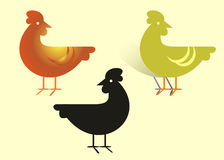 Animal farm. Vector art. Hen illustration Royalty Free Stock Image