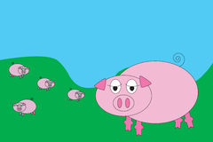 Animal Farm Cartoon Royalty Free Stock Images