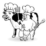 Animal farm cooking Royalty Free Stock Images