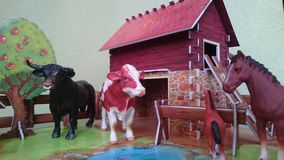 Animal farm diorama display Royalty Free Stock Images