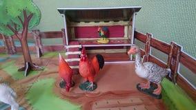 Animal farm diorama display Stock Images