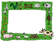 Animal Farm Frame Royalty Free Stock Photos