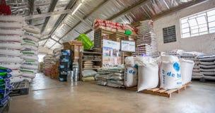 Animal feeds supplier warehouse interior. royalty free stock photos