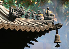 Animal figures on Chinese roof Stock Photography