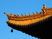 Animal Figures On Chinese Roof Stock Image