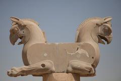 Animal figures, persepolis, iran Stock Photo