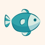 Animal fish flat icon elements, eps10 Stock Photography