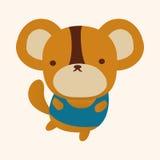 Animal flat icon elements, eps10. Vector illustration file Stock Images